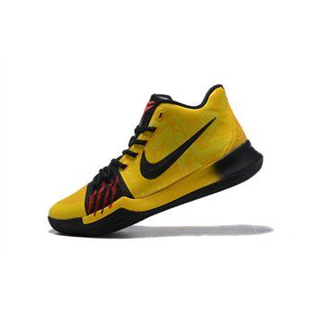 77c831fe36c8 Bruce Lee Nike Kyrie 3 Mamba Mentality Tour Yellow Black Basketball Shoes  AJ1692-700