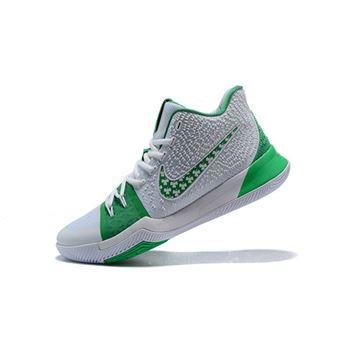 1756be92bea Latest Nike Kyrie 3 Green White Men s Basketball Shoes