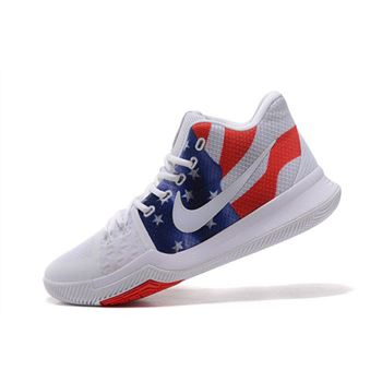 a50d80d7158f Men s Nike Kyrie 3 Stars And Stripes Basketball Shoes