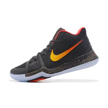 a2fb2cbd0327 New Nike Kyrie 3 Black Red-Gold Men s Basketball Shoes